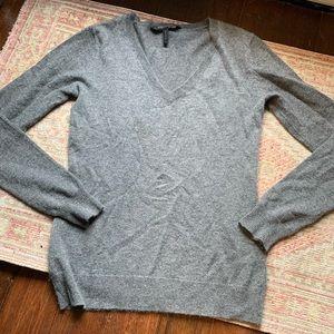Bcbg maxazria cashmere sweater grey vneck XS